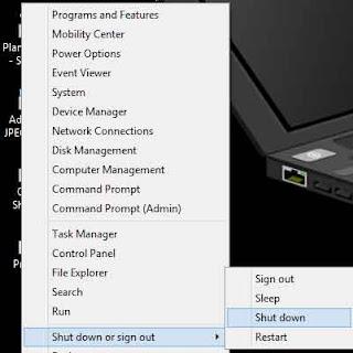 Mematikan komputer windows 8.1