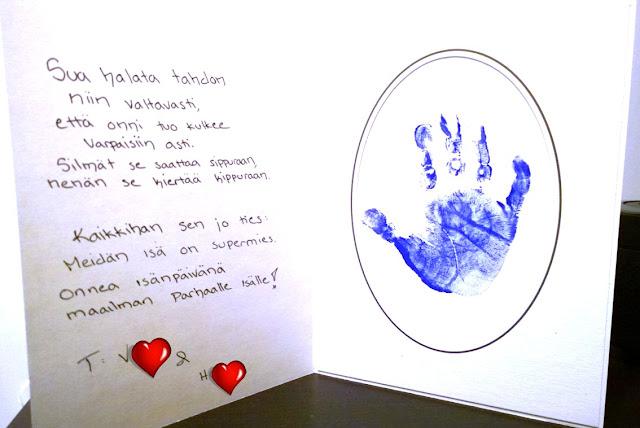 Saippuakuplia olohuoneessa. blogi, kuva Hanna Poikkilehto, isänpäivä kortti, Diy,