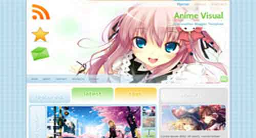 Anime Visual Blogger Template