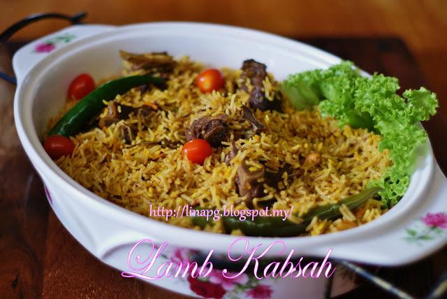 Nasi Kabsa LiNa Pg, nasi kabsah homemade resepi nasi arab sedap, nasi arab masak from scratch, nasi arab mudah dan sedap, nasi kabsah kambing, lamb kabsah homemade