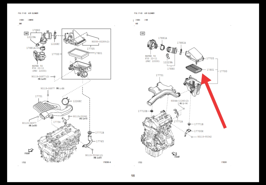 Daftar Harga Saringan Udara / Air Filter Mobil Daihatsu