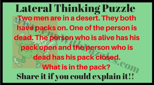 Lateral thinking mind teaser