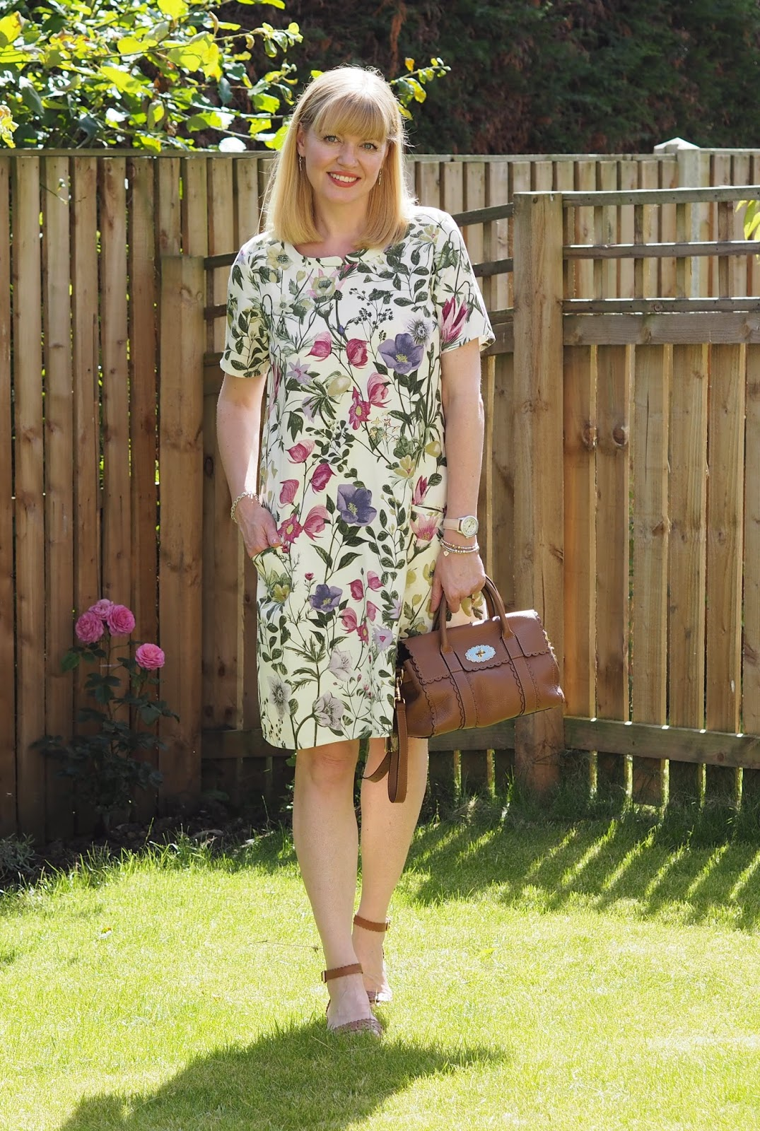 Braintree eco-fashion botanical floral dress