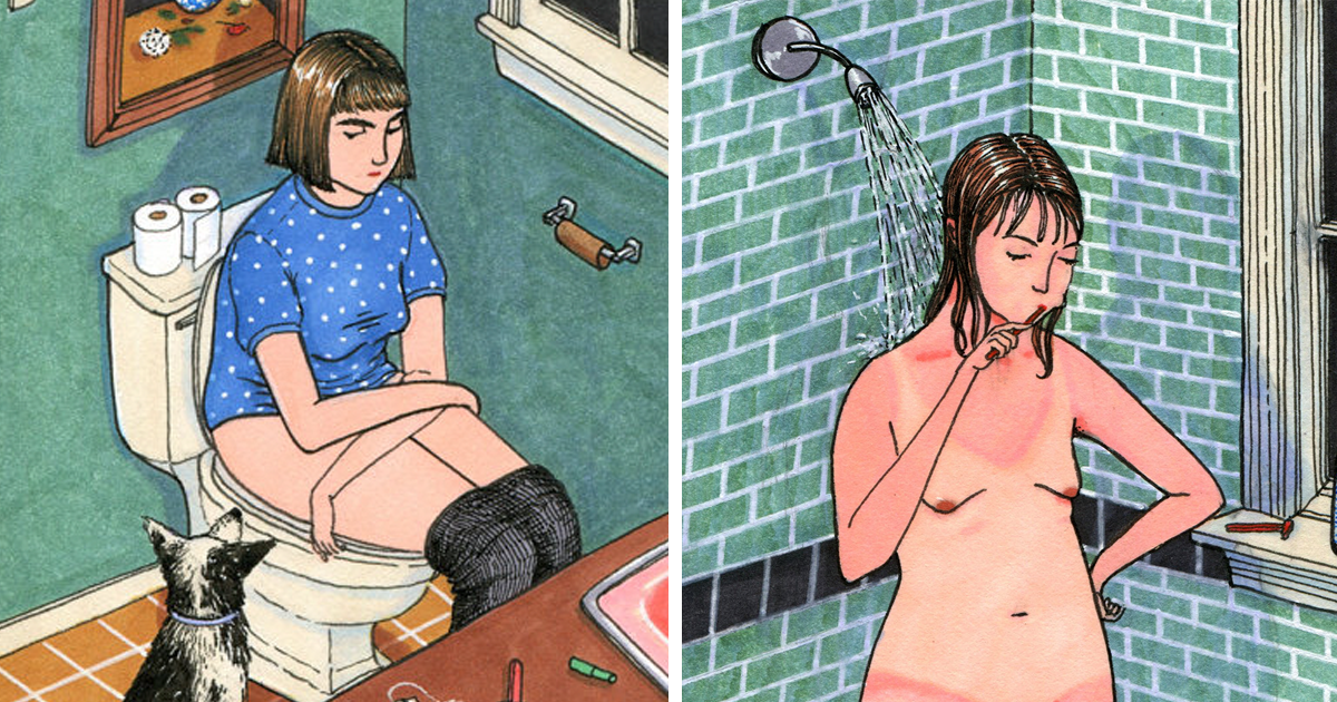 25 Realistic Drawings Of A Woman's Life