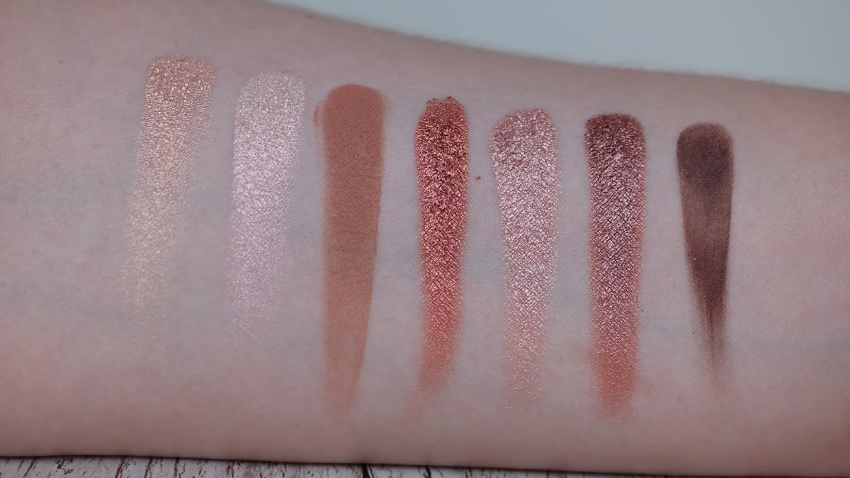 Cover Shot Eye Shadow Palette Swatches
