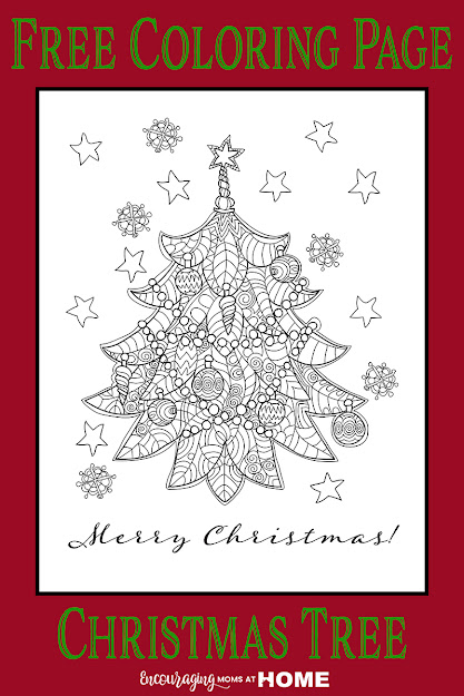 Beautiful Free Christmas Tree Coloring Page  Unique And Gorgeous