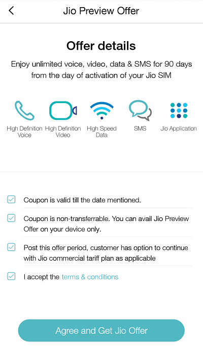 activation date of jio sim