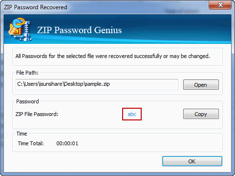 recover winzip password after forgot successfully