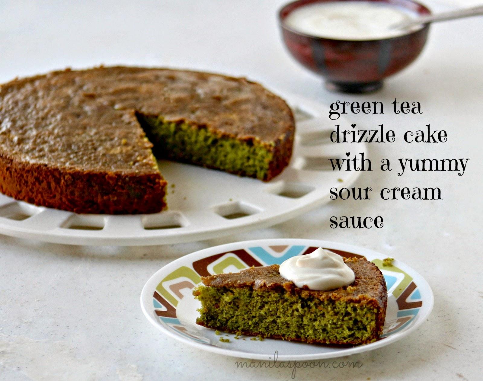 Green Tea Drizzle Cake