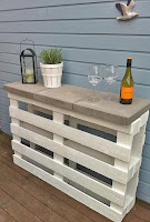 consolle con pallet