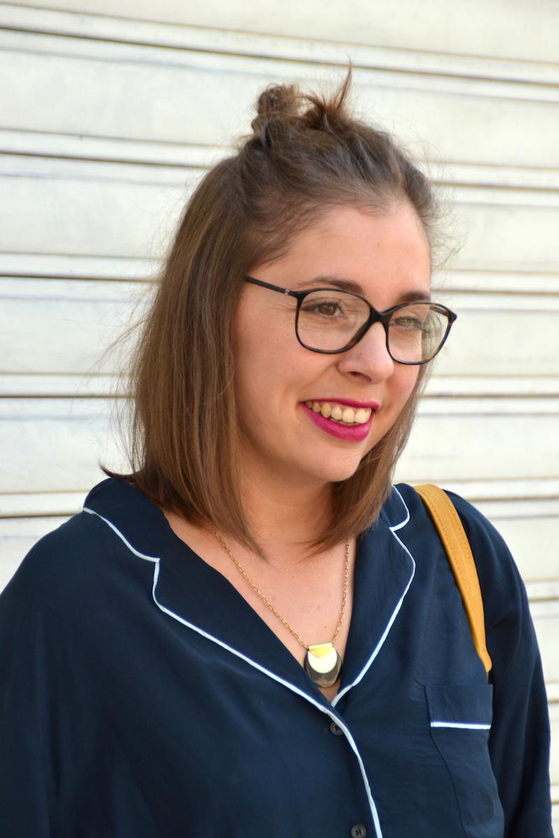 lunette de vue chanel, chemisier pyjama H&M