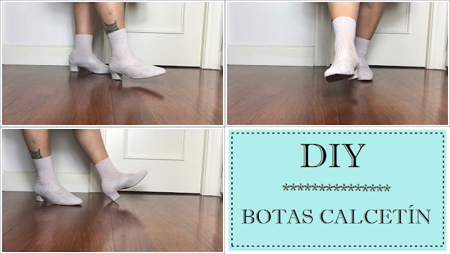 Diy botas calcetín