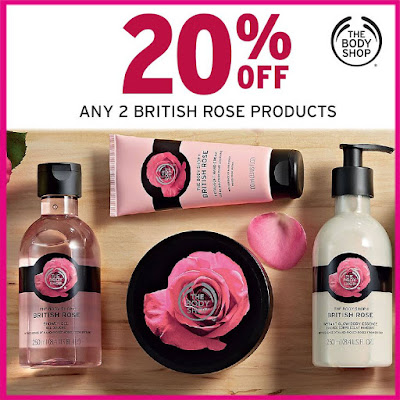 The Body Shop Malaysia British Rose Products Discount Promo