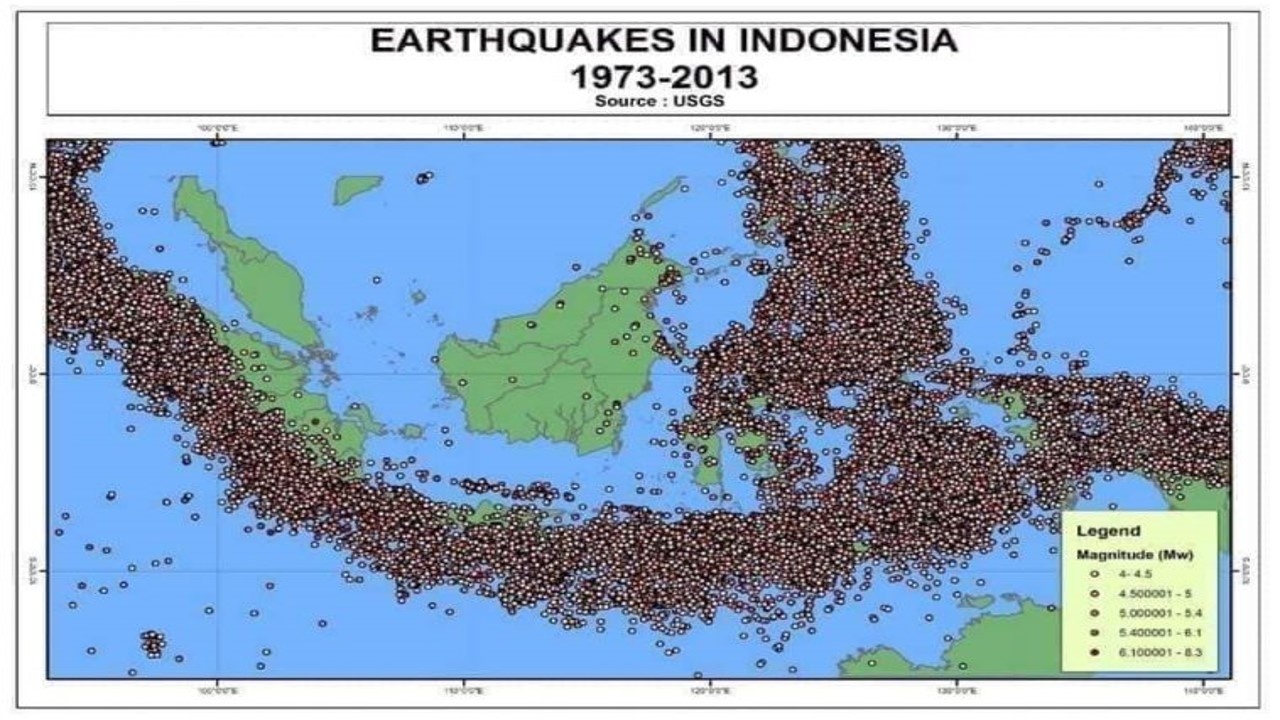 Dengan di dukung letak geografis indonesia berada di dalam ring of fire (cincin api). Kalimantan Beruntung Bukan Termasuk Ring Of Fire