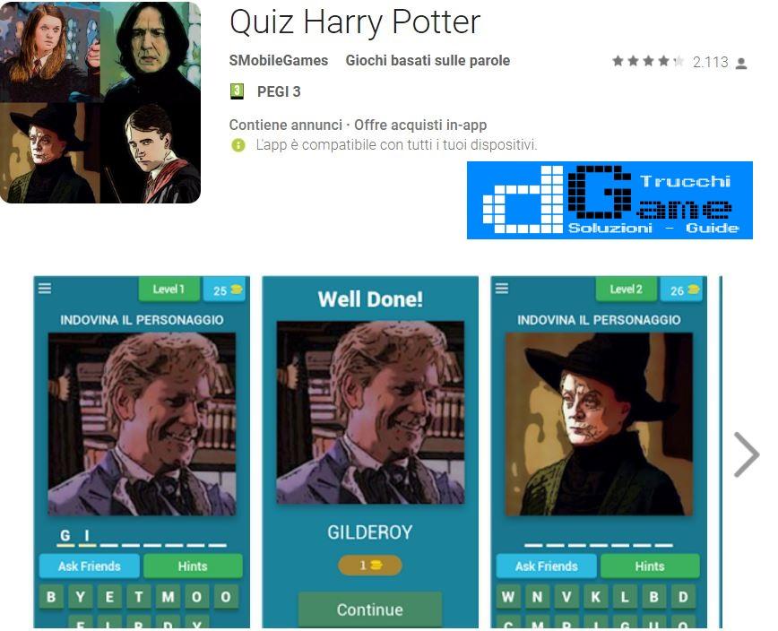 Soluzioni Quiz Harry Potter | Tutti i livelli risolti con screenshot soluzione