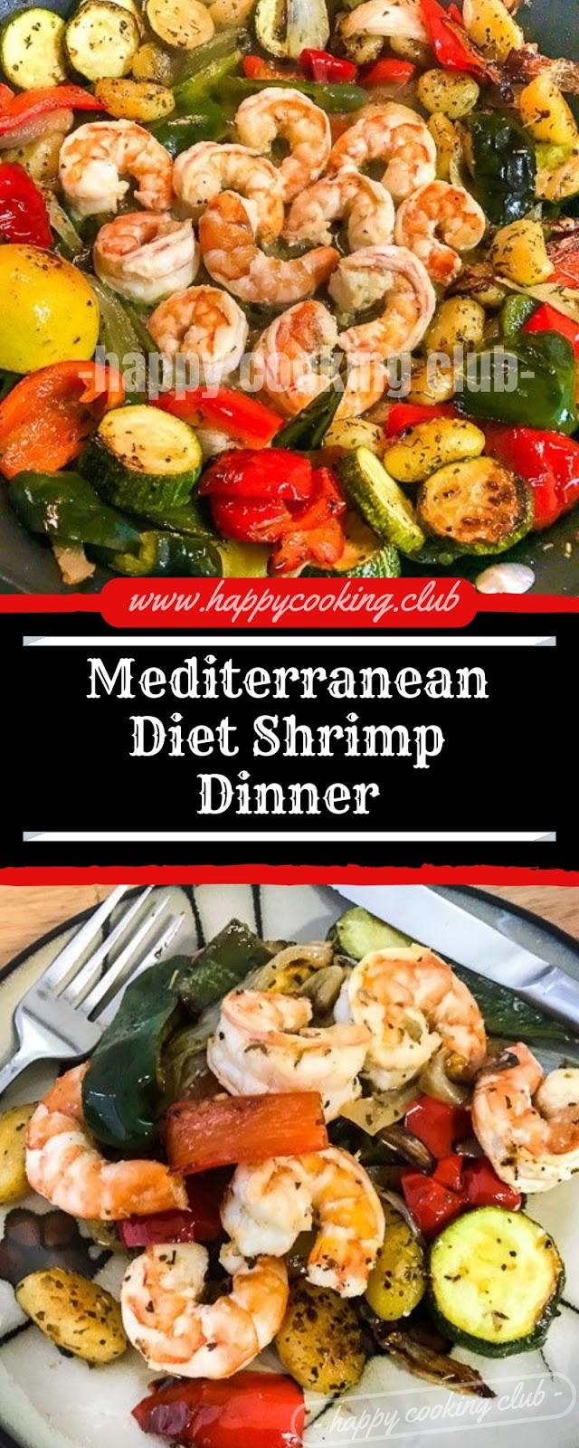 Mediterranean Diet Shrimp Dinner