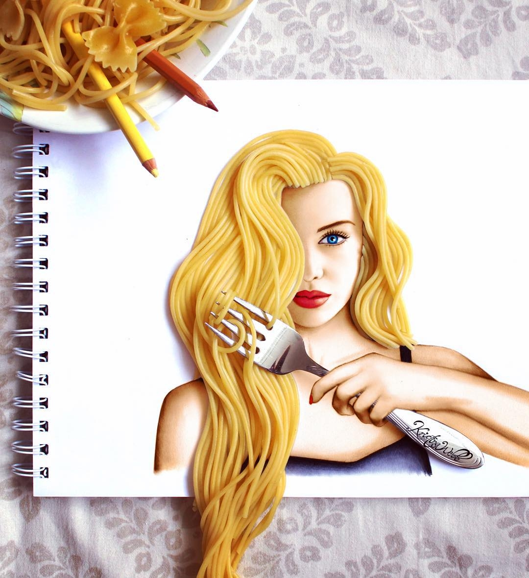 02-Spaghetti-Hair-Kristina-Webb-colour-me-creative-Drawings-Exploring-a-Range-Different-Techniques-www-designstack-co