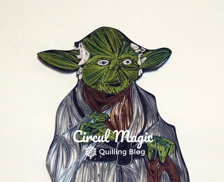 Making of Tablou Handmade Quilling Yoda - Seria Personaje Star Wars Circul Magic
