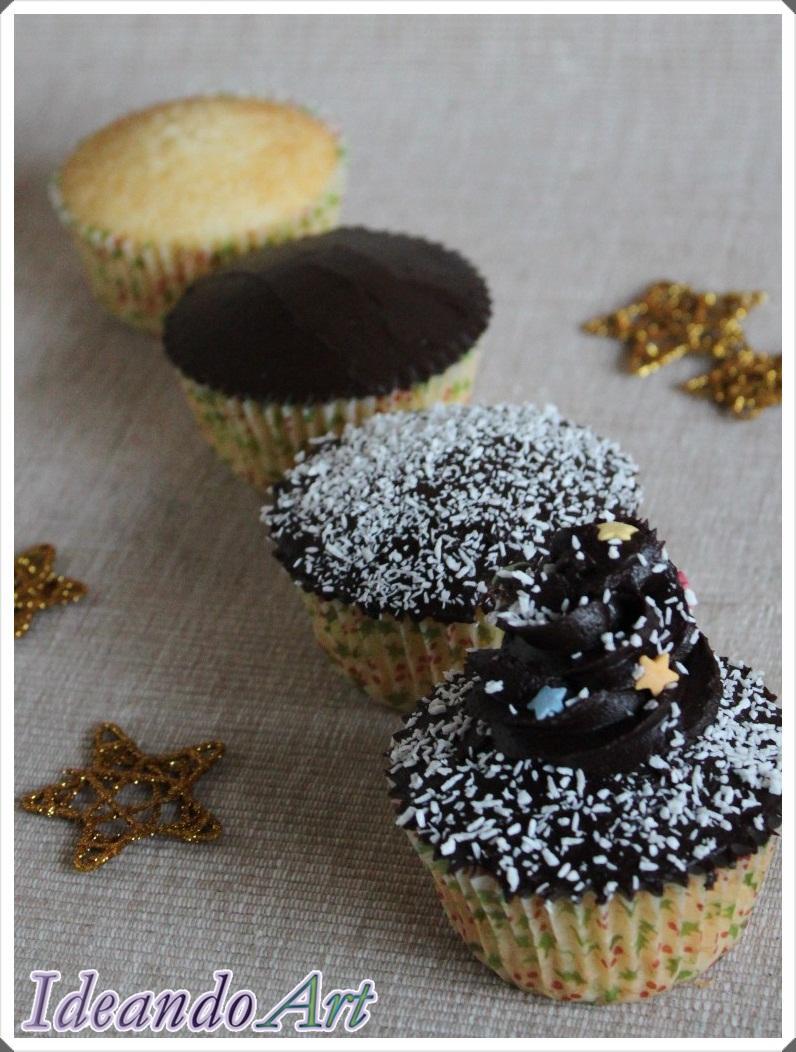 Cupcakes coco y choco decoración Navidad