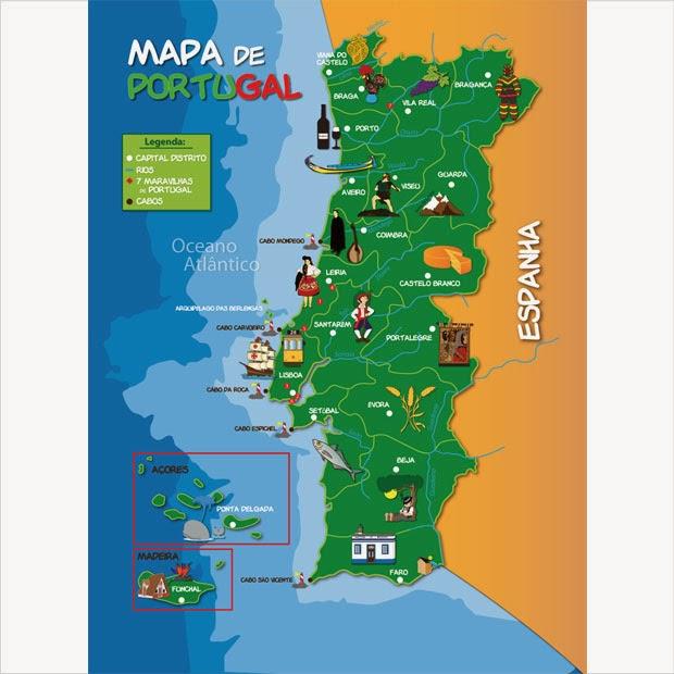 mapa de portugal para crianças ARTES E AVENTURAS DA RACHEL: NOSSO ROTEIRO mapa de portugal para crianças