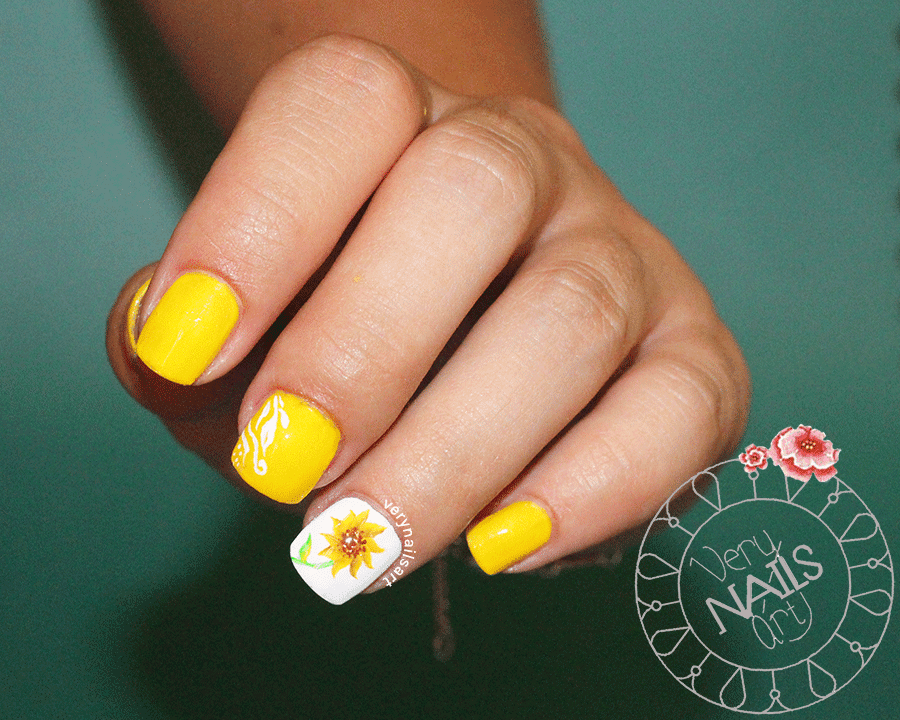 girasol-one-stroke-nailart-uñas-decoradas
