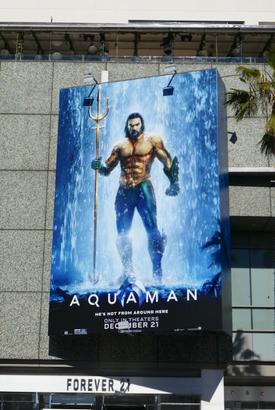 DC Aquaman movie billboard