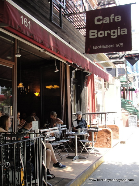 exterior of Cafe Borgia II in NYC