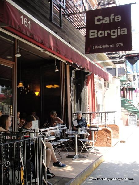 exterior of Cafe Borgia II in NYC