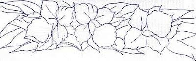 pintura em tecido risco orquidea