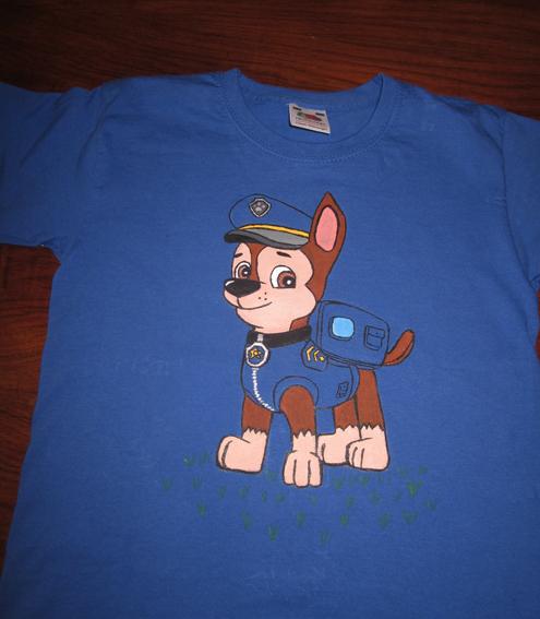 Camiseta de Chase (Patrulla Canina)