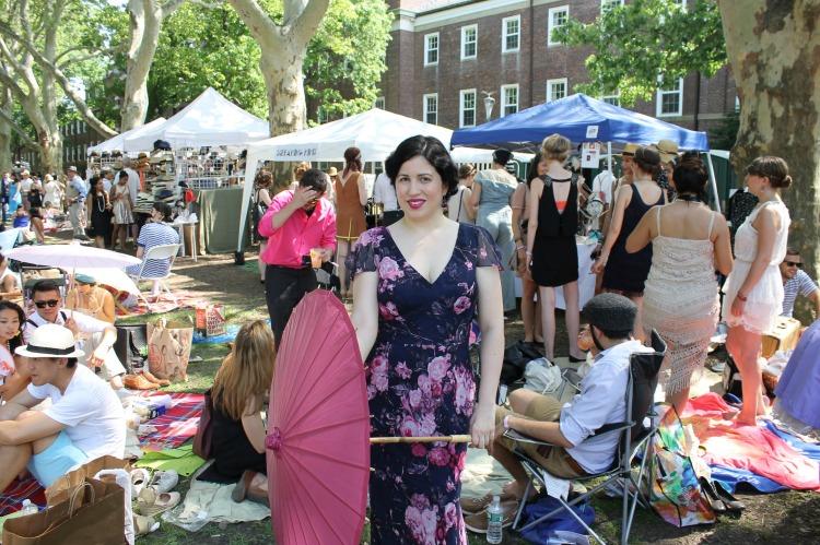 A Vintage Nerd, Vintage Blog, Unique Vintage 1930's Dress,  NY Jazz Age Lawn Party, Vintage Blog, 1930s Fashion