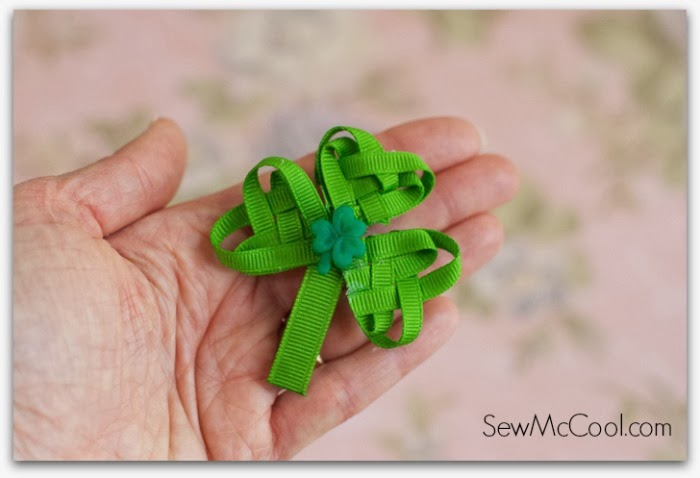 http://www.sewmccool.com/woven-ribbon-shamrock-tutorial/
