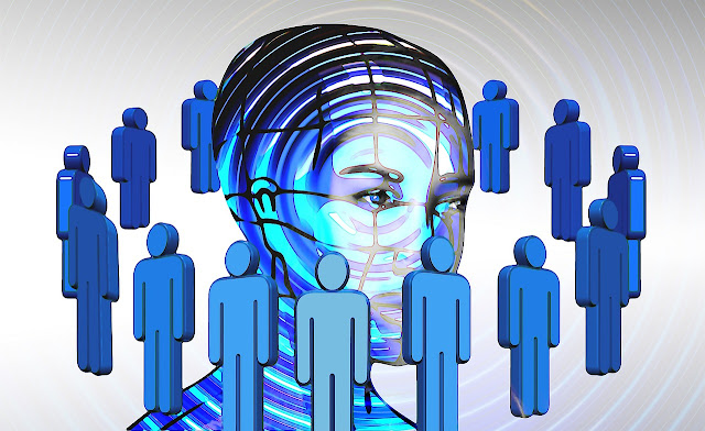 la imagen muestra el busto de una persona y varias personas rodéandolo
