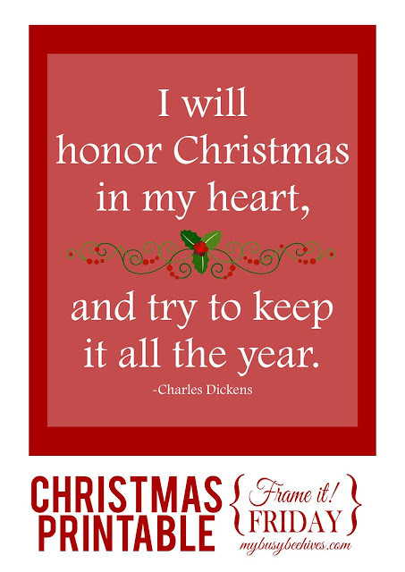 I will honor Christmas in my heart... a free Christmas printable