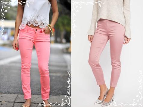 Pembe renk pantolon modelleri-klasik