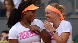 serena williams and caroline wozniacki