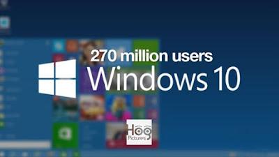 Windows 10 Telah Meraih 270 Juta Pengguna di Tahun 2016