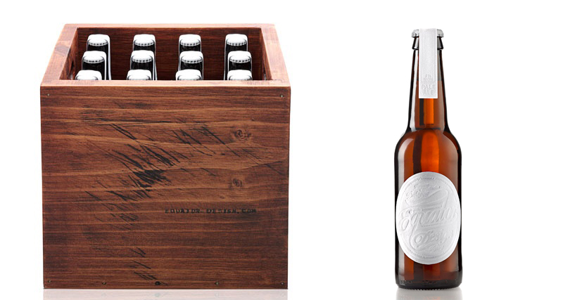 Equator Design Beer Case Equator Design beer packaging