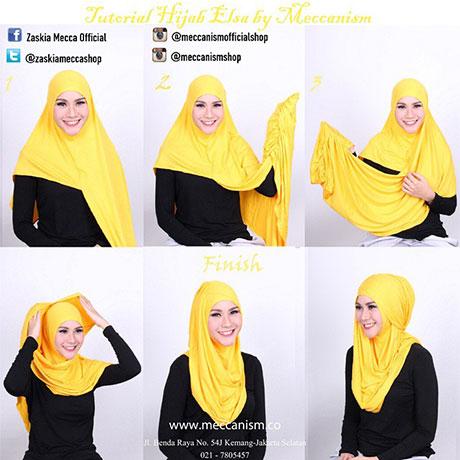 Tutorial Hijab Pashmina Ala Zaskia Sungkar - Hijab Top Tips