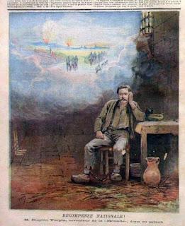 """Le Petit Journal du 21 janvier 1893 : """"récompense nationale ! M. Eugène Turpin, inventeur de la mélinite, dans sa prison."""""""