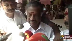 Live: O Panneerselvam talks in favour of RK Nagar candidate Madhusudhanan