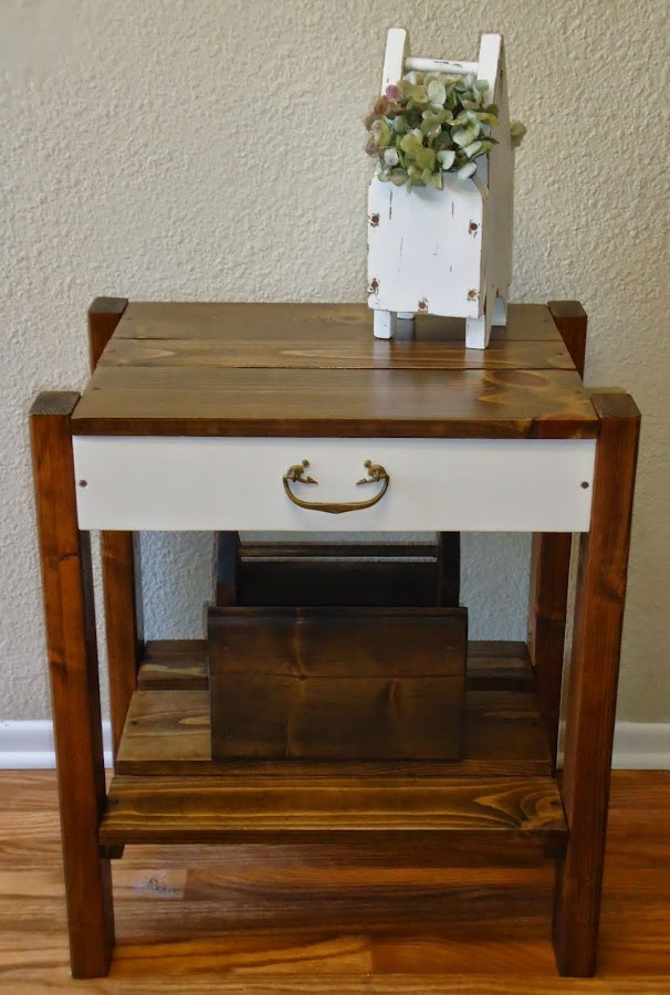 Side/Entry Table with Vintage Hardware  - SOLD
