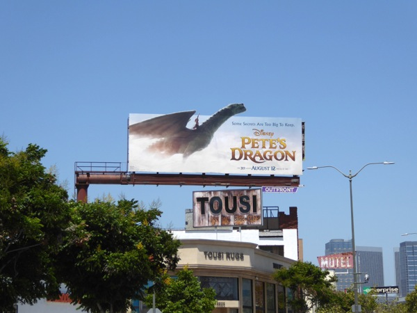 Pete's Dragon movie billboard