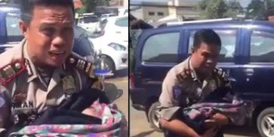 Penuh Haru, Lihat Video Polisi Adzani Bayi yang Lahir di Pinggir Jalan Tol Cipali Ini