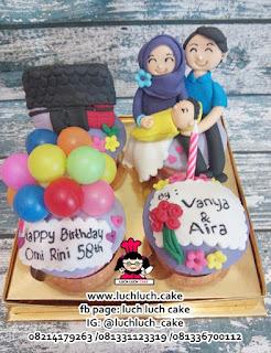 Cupcake Tema Rumah dan Mobil Keluarga