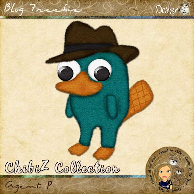 ChibiZ Collection - Agent P by DeDe Smith (DesignZ by DeDe)
