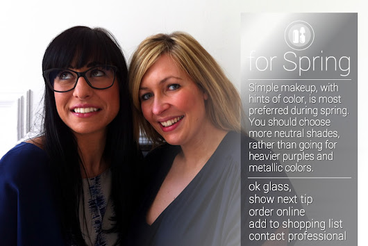 Year round make up tips for any time or occasion with Google Glass