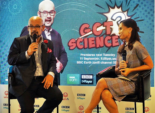 BBC Got Science Launch Harith Iskander  Host And Daphne IIKing