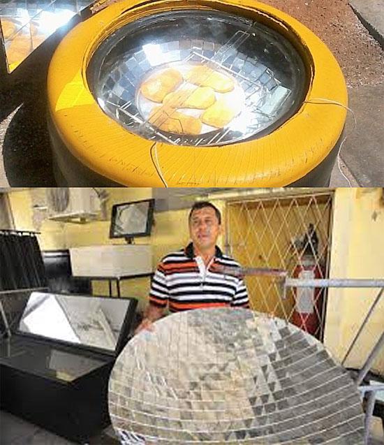 Gás de cozinha tá caro - Pesquisador brasileiro cria fogão que funciona com energia solar - Img 1