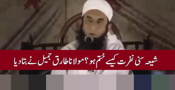 #MolanaTariqJameel tells how to solve shia sunni hate